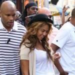 Beyonce Jay Z y su guardaespaldas