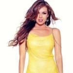 Thalía se unió a la moda de las grandes colas