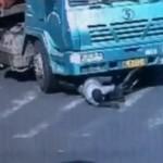 ciclista se salvó de la muerte