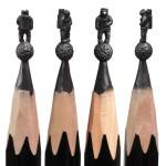 Increíbles esculturas talladas en puntas de lápices