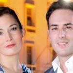 Sebastián Martínez y Kathy Sáenz