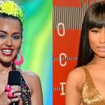 Nicki Minaj y Miley Cyrus en los premios MTV