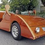 Sorprendentes carros hechos en madera