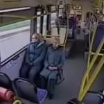 autobus que choco cuando su conductor se durmio