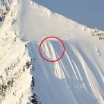 caida de esquiador por una pendiente