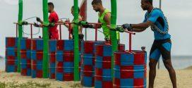 Dos competidores están fijos en la Gran Prueba Final del Desafío Súper Humanos